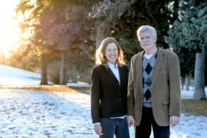 Mary Clare and Gary Ferguson enjoy a moment in nature.